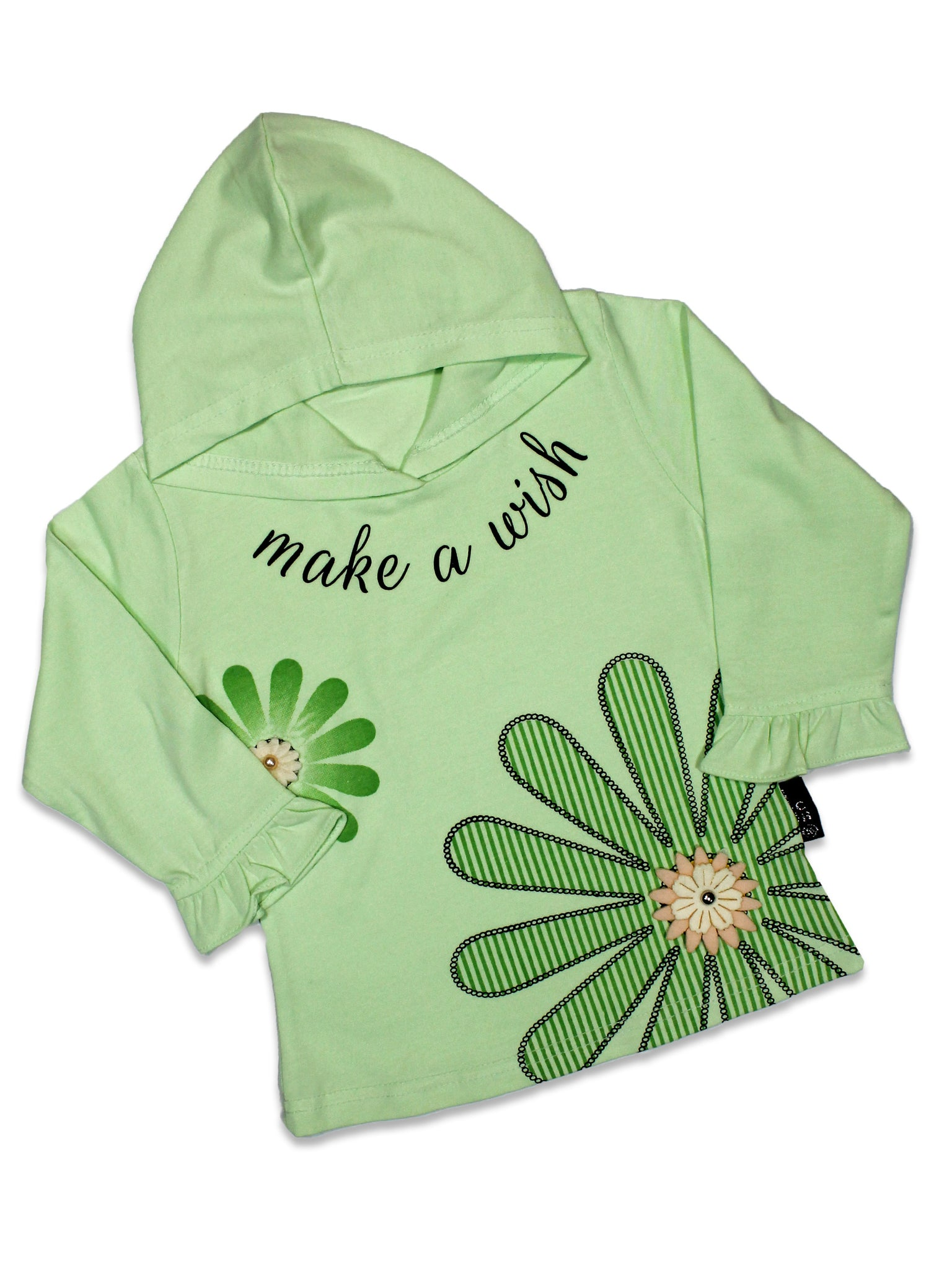 AT2 2.5Yrs - 7Yrs T-Shirt For Girls Floral Print Grass Green