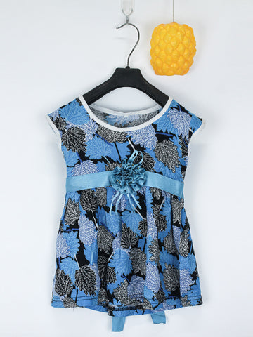Sleeveless Frock for Girls 10 Mth - 3.5 Yrs Printed Maple Fall