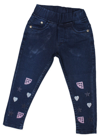 3 Yrs - 11 Yrs Power Stretch Jeans For Girls Azure Blue