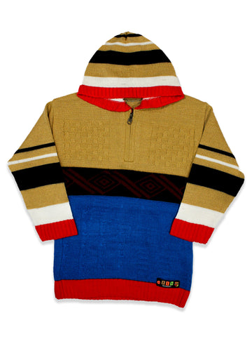 Kids Sweater 5Yr - 9Yr Hoodie Clown Brown