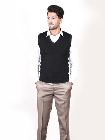 S.H Sleeveless Sweater for Men Black