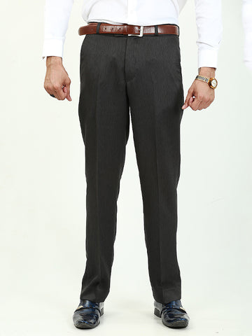 Dress Pant Trouser Formal for Men Textured Lead Grey