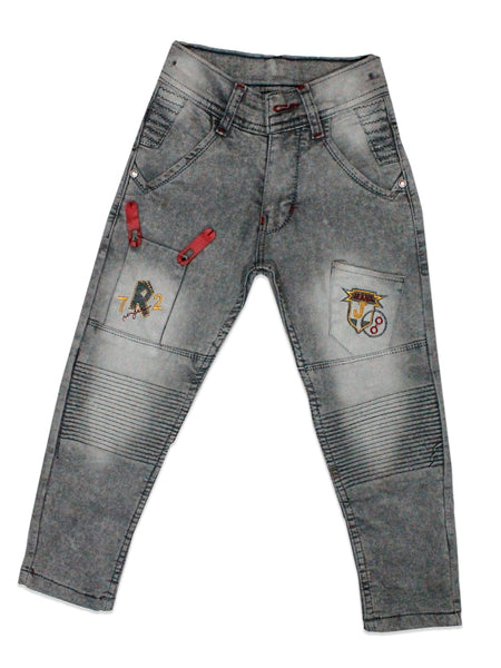 5 Yrs - 15 Yrs Power Stretch Jeans for Boys Grey