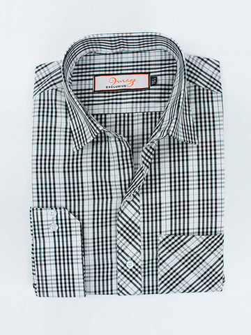 RC Formal Dress Shirt For Men Black Marco Checks
