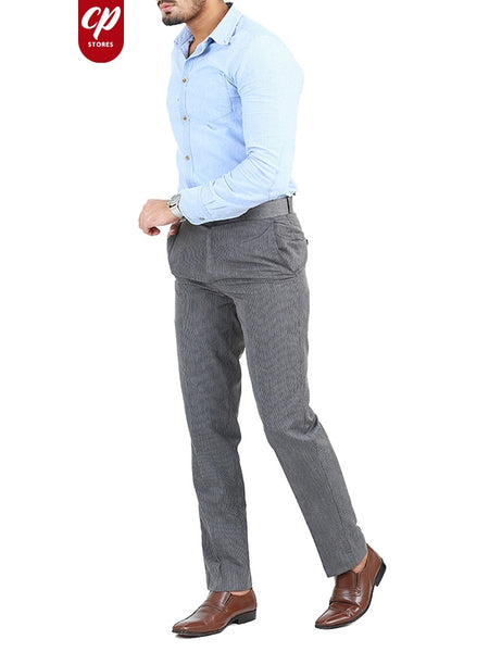 Dress Pant Trouser formal for Men Grey Striped