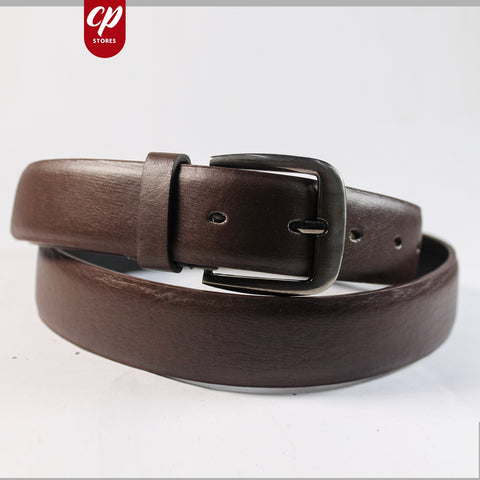 Cut Price Faux Leather Style Belt for Men Sienna Brown