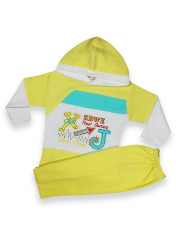 TY Fleece Kids Suit 1.5 Yr to 4 Yr JX Light Yellow