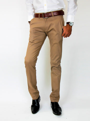 Cotton Chino Pant For Men Mud Fawn