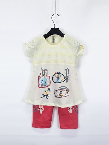 AKC Baby Suit 1 Yr - 4 Yr Printed Happy Yellow