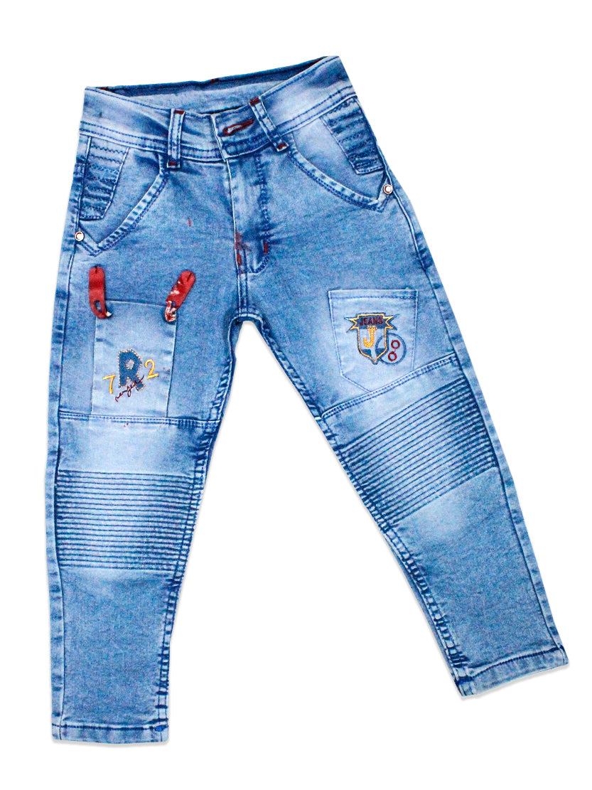 5 Yrs - 15 Yrs Power Stretch Jeans for Boys Light Blue