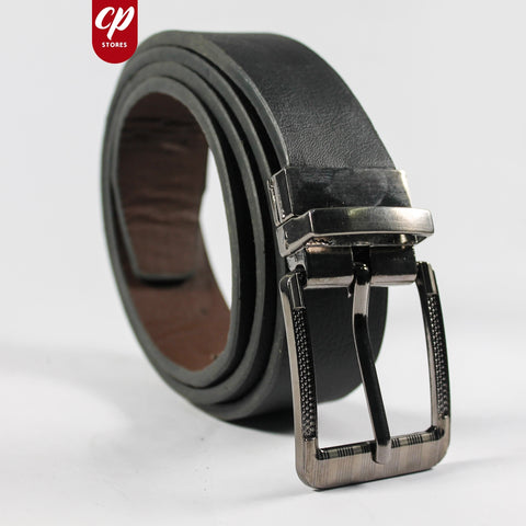 Cut Price Faux Leather Style Belt for Men Dull Black