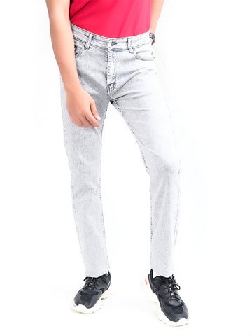 Cut Price Power Process Strechable Jeans for Men Grey