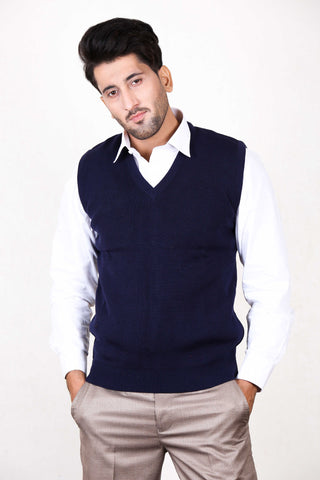 S.H Sleeveless Sweater for Men Royal Blue