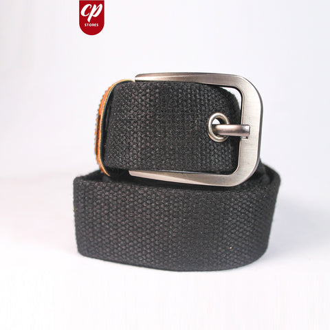 Cut Price Braided Jute Belt For Men Black