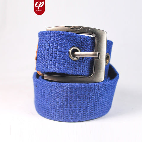 Cut Price Braided Jute Belt For Men Ink Blue
