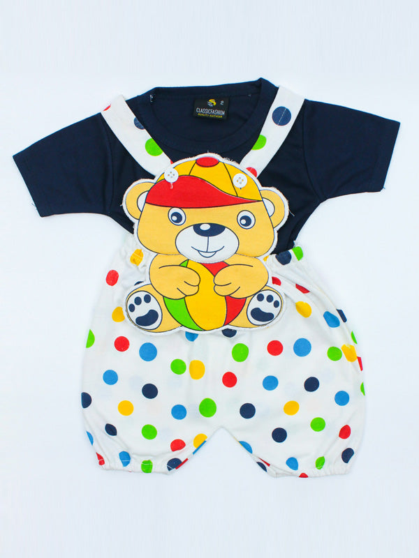 Teddy Romper for Newborn 1Mth - 8Mth Navy Blue