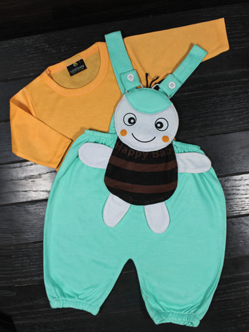 Romper for New Born 1Mth - 8Mth Bee Green