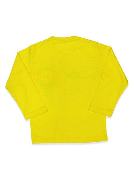 KS Boys T-Shirt 2 Yrs - 10 Yrs Printed Bright Yellow