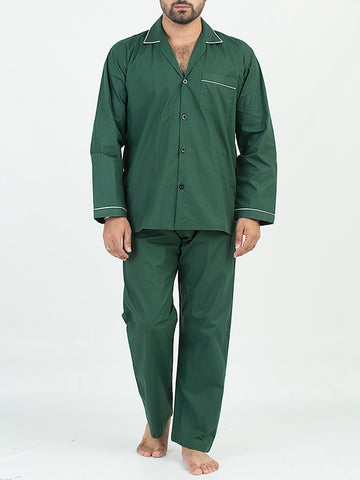 Cut Price Night Suit for Men Plain Green