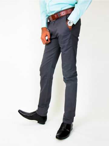 Cotton Chino Pant For Men Grey
