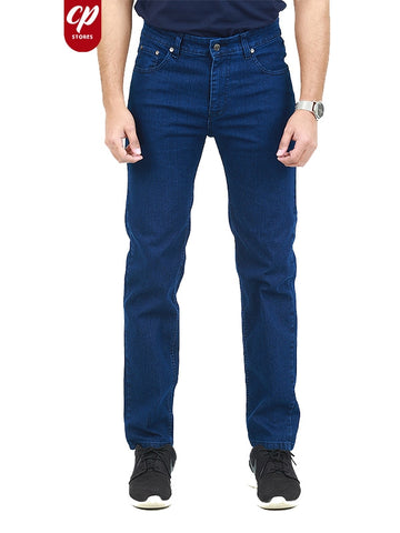 Cut Price Stretchable Jeans For Men Dark Denim Blue