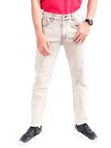 Cut Price Power Process Strechable Jeans for Men Light Brown