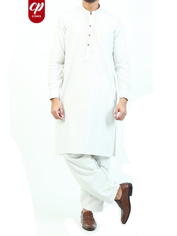 5887 Cut Price Shalwar Kameez Suit Stitched for Men Sherwani Royal Embroidery Ice White
