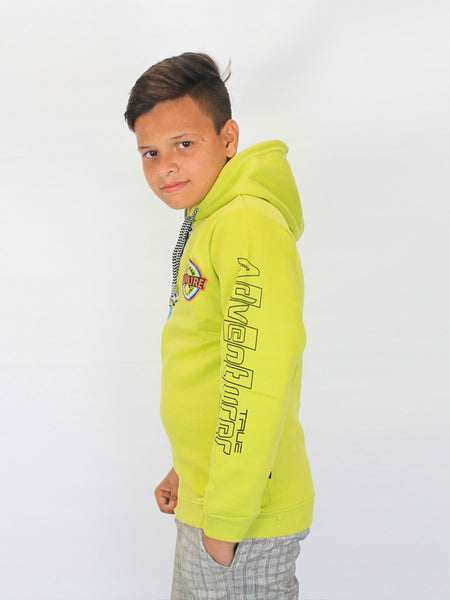 ATT Boys Jumper Hoodie T-Shirt 3Yrs - 10Yrs Printed Adventurer Green