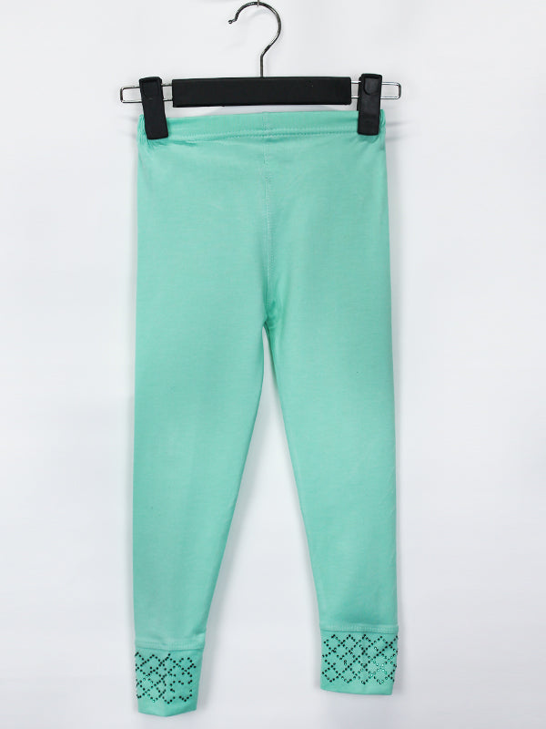 AT1 Tights For Girls 2 Yrs - 10 Yrs EM Sea Green