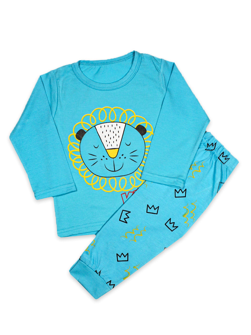 KS Kids Suit 1 Yr - 4 Yrs Lion King Sky Blue