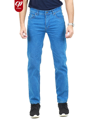 Cut Price Stretchable Jeans For Men Sky Blue