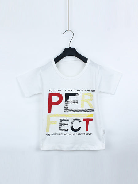 AK1 Boys T-Shirt 1 Yrs - 10 Yrs Perfect White