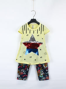 AKC Baby Suit 1 Yr - 4 Yr Sequins STAR Yellow