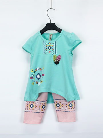 AKC Baby Suit 1 Yr - 4 Yr Printed LOVE Sea Green