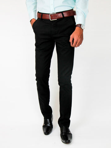Cotton Chino Pant For Men Black