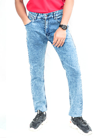 Cut Price Power Process Strechable Jeans for Men Electric Blue
