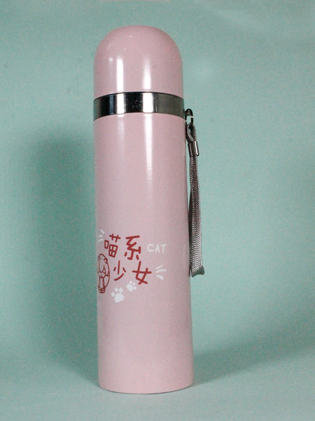 Stainless Steel Vacuum Bottle Bubble Pink