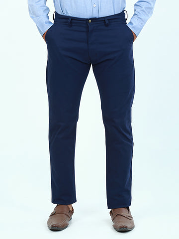 Cotton Chino Pant For Men Dark Navy Blue