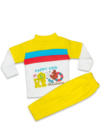 TY Fleece Kids Suit 1.5 Yr to 4 Yr Happy Kid Honey Yellow