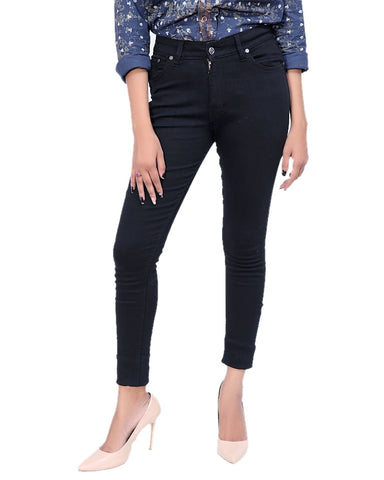Cut Price Ladies Stretchable Jeans Pure Black