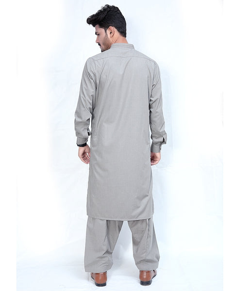 650 Shalwar Kameez Suit Stitiched for Men Sherwani Collar Forest Green
