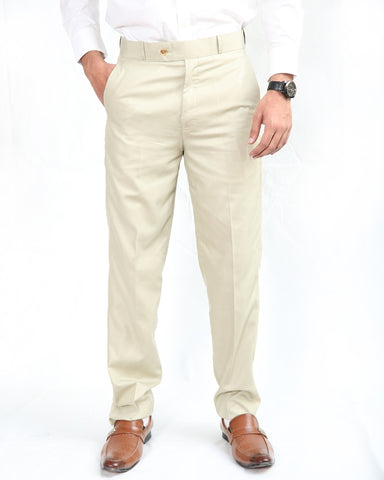Cut Price Dress Pant Trouser Formal For MEN LIME Cream