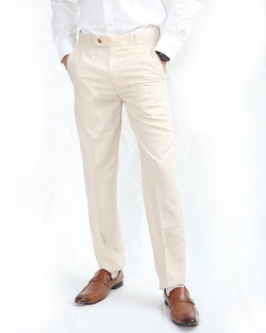 Cut Price Dress Pant Trouser Formal For MEN Linen CREAM