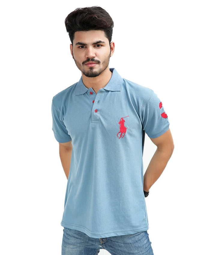 Cut Price T-Shirt For Men Rk Embroidered PH Slate Blue