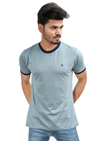 T-Shirt For Men TH Plain Slate Grey