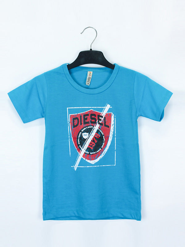 AK1 Boys T-Shirt 2 Yrs - 10 Yrs Printed Diesel Sky Blue
