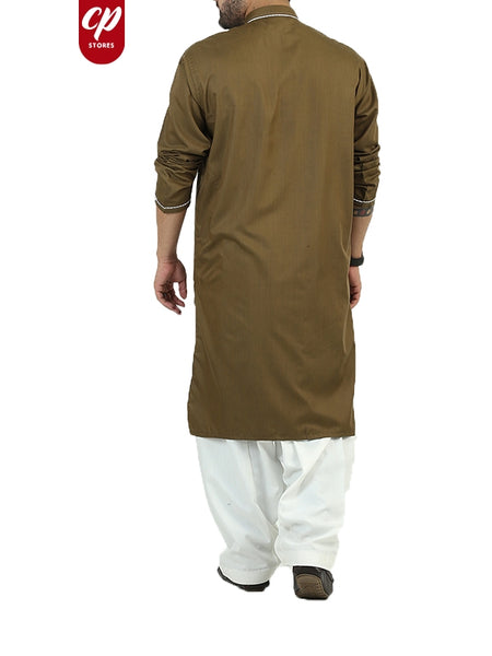 Cut Price Kurta Luxury for Men Stitched Olive Green