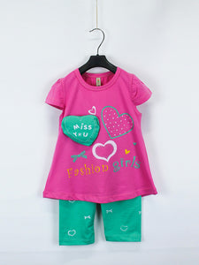 AKC Baby Suit 1 Yr - 4 Yr Printed MISS Sharp Pink