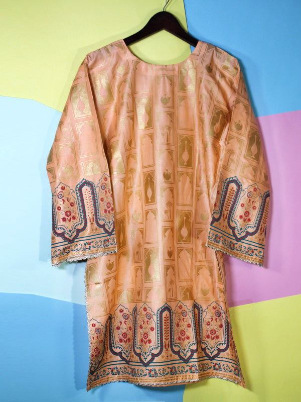 Kurti for Women Printed Traditional Dark Fawn