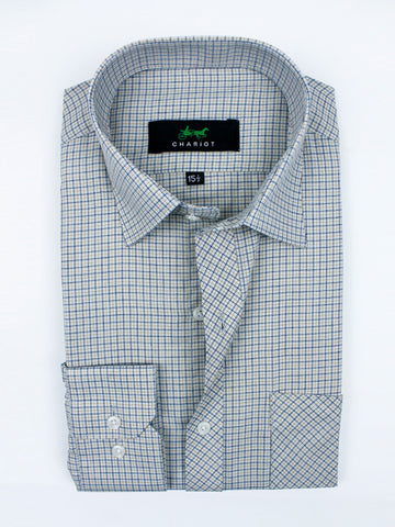 Formal Dress Shirt For Men Spring Checks Sand Black